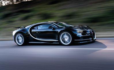 Black Bugatti Chiron side view