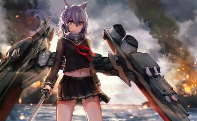 Maya, Bilan Hangxian, anime girl, katana