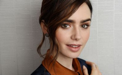 Beautiful face of Lily Collins, celebrity