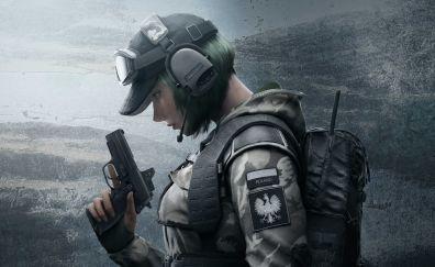Tom Clancy's Rainbow Six Siege, video game, girl soldier, 5k