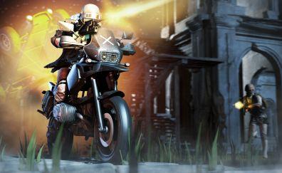 Playerunknown's battlegrounds, biker, 4k