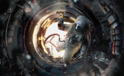 Astronaut, Salyut 7, space station