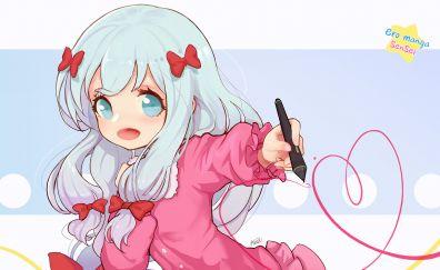 Cute, anime girl, Izumi Sagiri, fan art, EroManga-Sensei