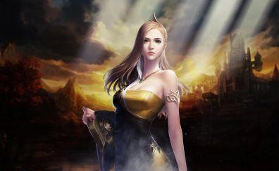 Cabal II, video game, long hair girl