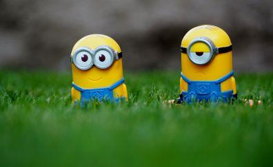 Minions, toys, grass
