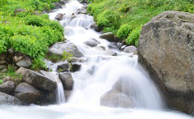 Eastern Black Sea, waterfall, rocks, river, nature