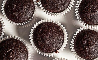 Chocolate, cake, muffins, baking, dessert