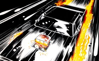 Car, ghost rider, marvel comics