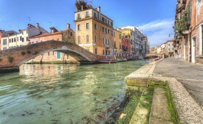 Venice river and bridge