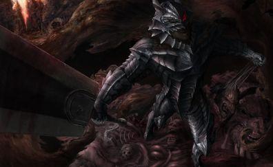 Armour, anime boy, guts, sword, berserk