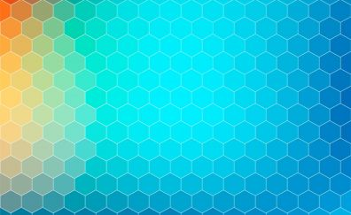 Background, gradient, pattern, hexagons, abstract
