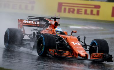 Race, sports, formula one, mclaren, car, 4k