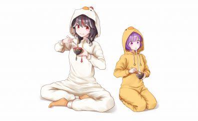 Seija Kijin, Shinmyoumaru Sukuna, Touhou, anime girls