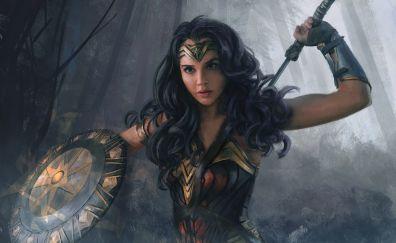 Fan art, dc comics, superhero, wonder woman
