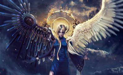 Modern, angel, wings, fantasy
