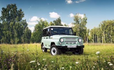 UAZ Hunter, SUV car, meadow