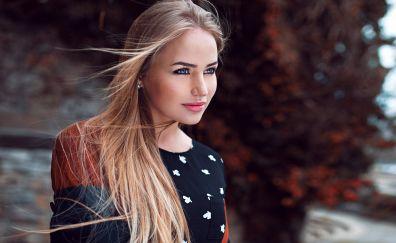 Maria Puchnina, smile, model, beautiful