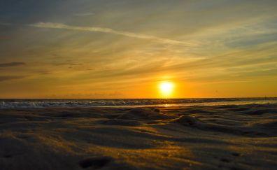 Borkum beach, sunset