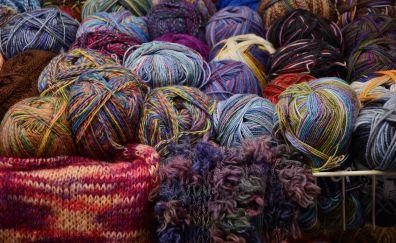 Colorful wool, ball