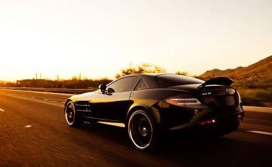 Mercedes-Benz SLR sports, black car