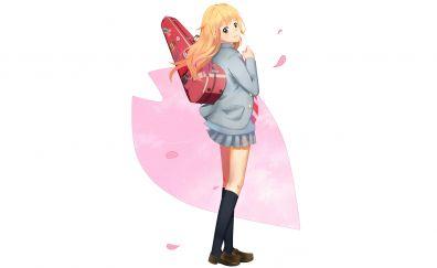 Minimal, anime girl, Kaori Miyazono, Your Lie in April