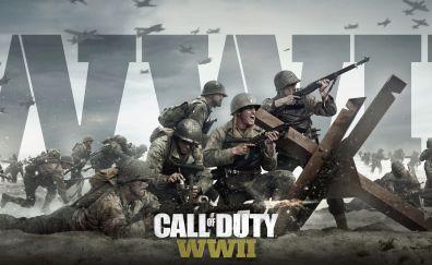 Call of duty wwii, soldiers in war field