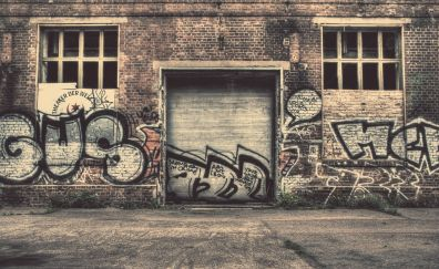 Wall city graffiti street
