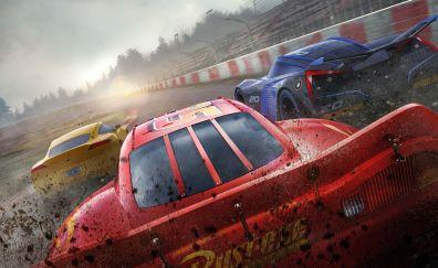 Cars 3, animation movie, race track, 8k, 10k