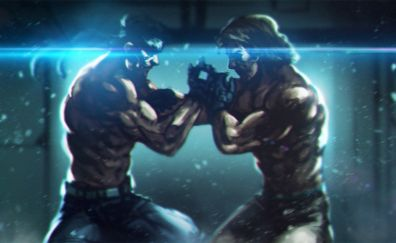 Metal Gear Solid, video game, fight