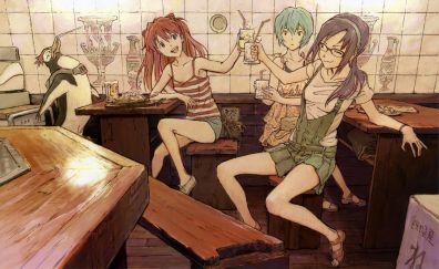 Neon genesis evangelion anime girls