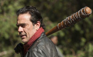 Jeffrey Dean Morgan as Negan, The Walking Dead TV show, bat