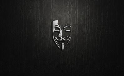 Minimal artwork of hacker mask