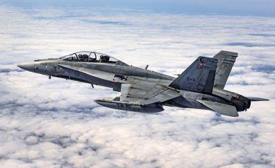 McDonnell Douglas CF-18 Hornet, fighter aircraft, 4k