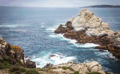 Rocky coast, sea, nature