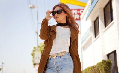 Actress, Ashley Tisdale, sunglasses