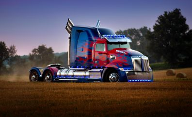 Transformers, scifi movie, optimus prime, truck, 5k