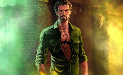Iron fist, the defenders, tv series, artwork