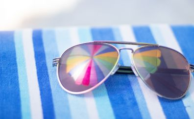 Beach, vacation, sunglasses, reflections