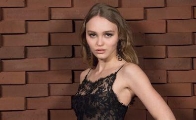 Lily rose depp, brunette, actress, 2017, 4k