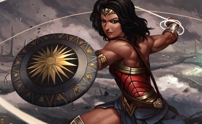 Wonder woman, superhero, art