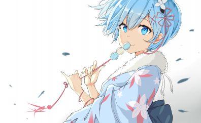 Re zero rem anime girl artwork