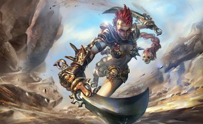 Rona with sword, vainglory, video game