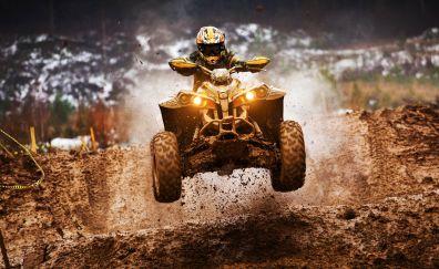 ATV Motocross, quadricycle, race, bike, 4k