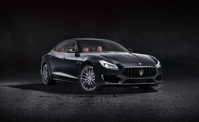 2017 black, Maserati Quattroporte GTS GranSport, car, 4k