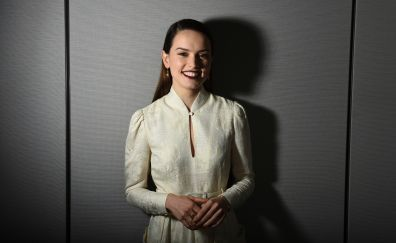 Daisy ridley, star wars, ap exclusive, smile, 4k
