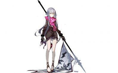 Anime girl, fate series, banner, minimal