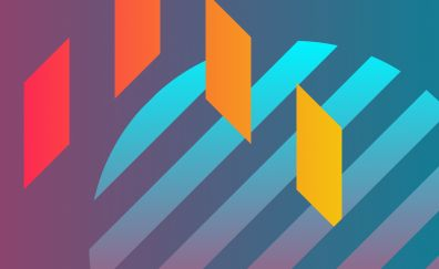 Flat design, stripes, bars, abstract