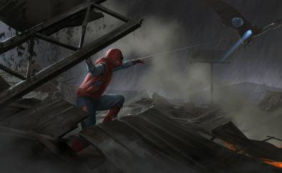 Spider-man: homecoming, movie, art, 4k