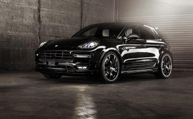 Sports, black, Porsche Macan car