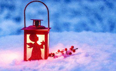 Christmas, winter, lantern, 5k
